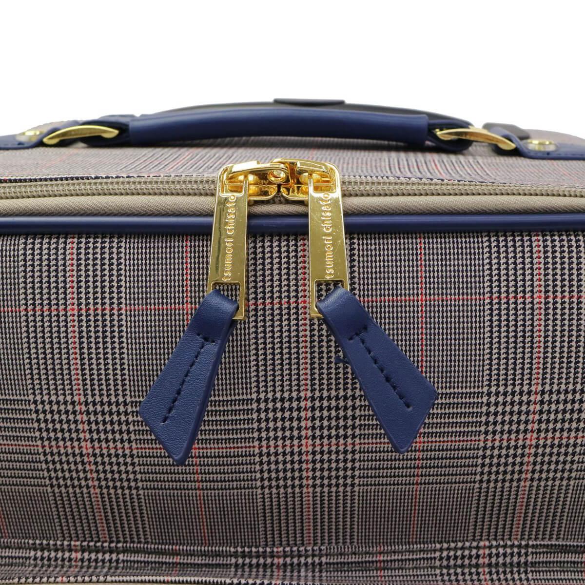 d1cc450815 tsumori chisato TRAVEL ツモリチサト トラベル グレンチェックキャリー スーツケース 30L  4235|【公式】カバン・小物の専門店のギャレリアモール